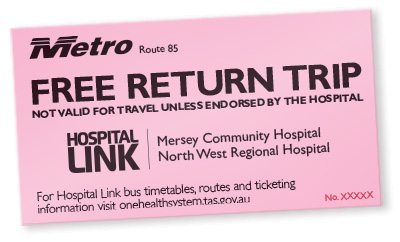 Hospital Link Ticket - Metro Route 85 Free Return Trip (Not valid for travel unless endorsed by the Hospital)